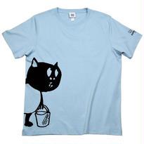 河童の三平 バケツ持ちたぬき T-Shirts(特製タグ付) Color  ブルー