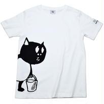 河童の三平 バケツ持ちたぬき T-Shirts(特製タグ付) Color ホワイト