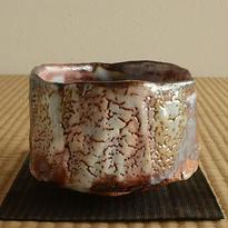 鼠志野茶盌 / 堀一郎