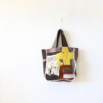 ウールのトートバッグ「cross3」