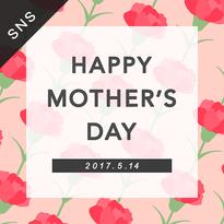 SNS素材|2サイズセット 母の日 [ B-01 ]