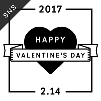 SNS素材|2サイズセット バレンタインデー [B-02]