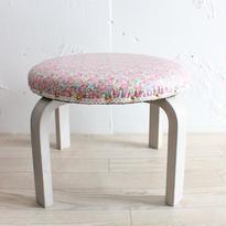 リバティの子供椅子 花柄(アンティークグレー・撥水加工) ベッツィ・アン ピンク