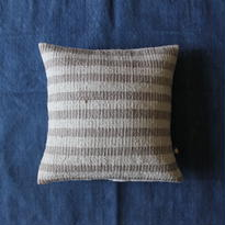 Gara-bou × Khadi Cushion Cover (Sand Stripe)