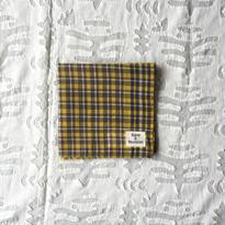 #100 Khadi Panel Plaid Bandana (Yellow)