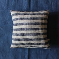 Gara-bou × Khadi Cushion Cover (Indigo Stripe)