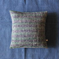 Gara-bou × Khadi Cushion Cover (Forest Stripe)