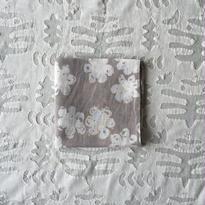 #150 Khadi Badala Flower Print Bandana (Light Gray)