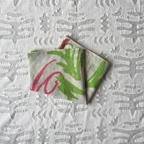 #150 Khadi Leaf Print Bandana (Green)