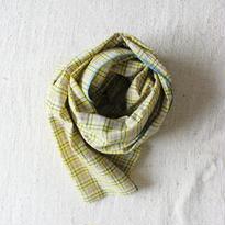 Khadi Tartan Stole (Yellow)