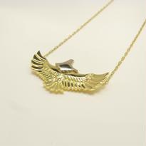 baby eagle necklace | k18yg × k18wg