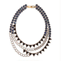 BANQUET BIJOU necklace | trilliant mix , Denim