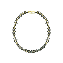 BANQUET BIJOU necklace|star metal , Metal × Gray opal