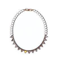 BANQUET BIJOU necklace | trilliant short , Chalk white × Crystal golden shadow