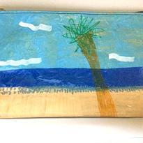 ポーチ中002「ヤシの木」