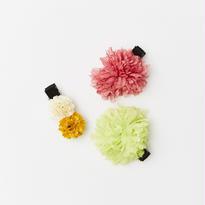 ベビー用【雑誌掲載商品】和小物としても使える!お花クリップ3個セット(日本製)