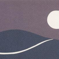 月と道(絵はがき)
