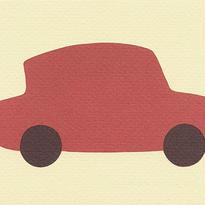 車(絵はがき)
