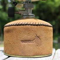 tadpole 製 campガス燃料 スエードレザーカバー  BLACK