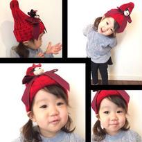 ミニー でかリボン ニット帽//4color