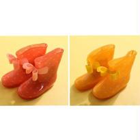 リボン ドット レインシューズ 長靴//2color (14㎝~18㎝)