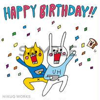 """[u_006]ウサギのウー  DLデータ """"HAPPY BIRTHDAY"""" 【2】"""