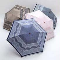 レース調の傘 50cm/折りたたみ傘 晴雨兼用 [OSC039 BL/BE/P/N]
