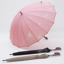 お花畑がひろがる傘 (全3色) 55cm/長傘 [OSB005 BL/BE/PI]