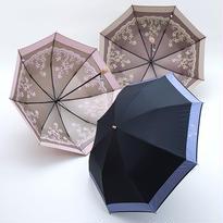 お花がきれいなレース調の傘 50cm/折りたたみ傘 [OSC041 BL/BE/P]