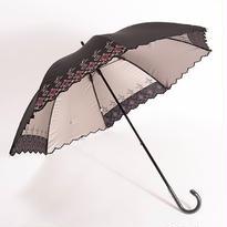 花刺繍の傘(ゴールド) 50cm/長傘 晴雨兼用 [H91229]