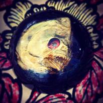 Vintage Paperweight 赤眼のピラニア