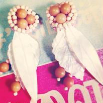 Vintage Earring  貝の葉二枚