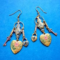 Vintage Pierce/Earring「ハートと鍵と南京錠」