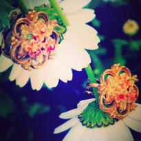 Vintage Earring 小花花紋