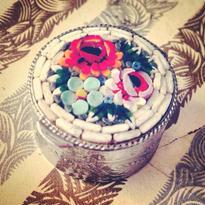 Micro-Mosaic PillCase 絶妙な色使い