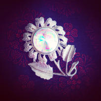 Vintage Brooch 銀花の虹彩