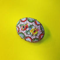 Vintage Micro Mosaic Brooch「ピンク・ミドリ・アカ・キ」