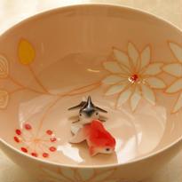 【有田焼】花・フレッシュピンク~「どんぶり金魚」オススメ・最適どんぶり~