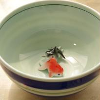 【有田焼】青色縞~「どんぶり金魚」オススメ・最適どんぶり~