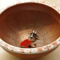【有田焼】地紋すり鉢~「どんぶり金魚」オススメ・最適どんぶり~