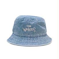 WINKIES DENIM BUCKET HAT (LIGHT DENIM/WHITE)