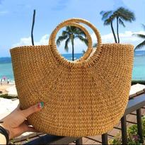 新作♡ シンプル 編み 半月型 カゴ ハンドバッグ