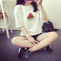 新作♡ SALE#シンプル バナナ プリント Tシャツ 全5色
