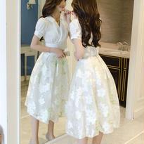 新作♡ 予約販売 セットアップ ブラウス +オーガンジースカート 結婚式高級ドレス