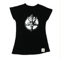 Dolman Sleeve Tee Shirts  Baphomet Print(16Z1-1002)