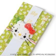 キティちゃんのし袋(グリーン:クローバー)