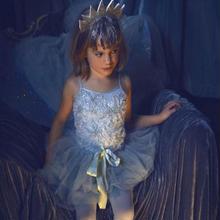 Tutu du monde★ミントグリーンとビーズがとっても綺麗な3段チュチュスカートドレス/インポート子供服