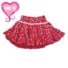 Mim-Piミンピ☆ハート柄のチュール付きふわふわスカート