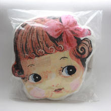 Natalie Leteナタリーレテ☆インポート雑貨/お人形の顔のクッション☆デコレーション Girl Cushion