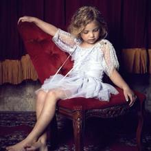 Tutu du monde★ムーンライトプラチナと言う名のフリルとスパンコールがたっぷり3段チュチュスカートドレス/インポート子供服